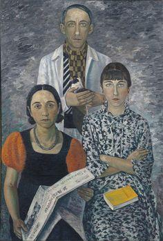 'The Painter's Family' (1936) by Italian artist Gino Severini (1883-1966). via Museé des Beaux Arts Lyon