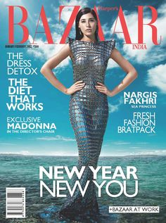 Nargis Fakhri, the American model turned actress is grabbed on the covers of the Harper's Bazaar Magazine 2012 edition. V Magazine, Vogue Magazine Covers, Magazine Photos, Cosmopolitan, Marie Claire, Vanity Fair, Nylons, Madonna Fashion, Interview