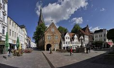 Nordermarkt, Flensburg - I see Cafe Central! Many memories in that place!!
