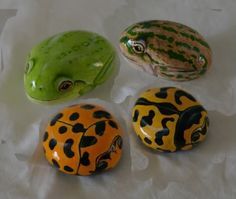 Image detail for -painted rocks for my grandchildren acrylic the 2 frogs are approx 5 1 ...