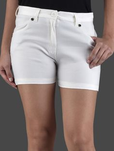 10751ff4f6 Buy Lqqke Solid Cream Cotton Shorts Online