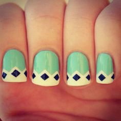 dotted french mint nails pinterest. Black Bedroom Furniture Sets. Home Design Ideas