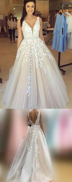 Wedding Dress Light Long Wedding Dresses With Tulle A-line/Princess WD206 #weddingdress #dress #wedding