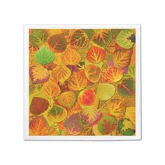 Aspen Leaves Collage Solid Medley 1
