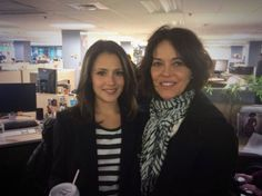 Italia Ricci and Mary Page Keller amazing in Boston at Chasing Life shoot!