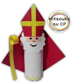 Risultati immagini per bricolage st nicolas Homemade Christmas Gifts, Christmas Crafts For Kids, Christmas Decorations, Preschool Crafts, Fun Crafts, Diy And Crafts, St Nicholas Day, Toilet Paper Roll Crafts, Theme Noel