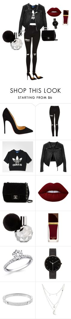 """"""""""" by esthertje ❤ liked on Polyvore featuring Christian Louboutin, Topshop, adidas, Linea Pelle, Chanel, Lime Crime, Tom Ford, I Love Ugly, Michael Kors and Charlotte Russe"""