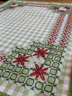 .No tecido xadrez - cantoneira toalha de mesa