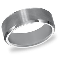 Cambridge Tungsten Carbide Beveled Edge Comfort Fit 8mm Wedding Band - Overstock™ Shopping - Big Discounts on Cambridge Men's Rings