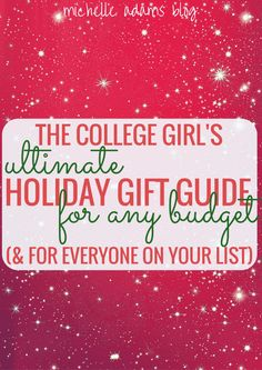The College Girl's Ultimate Last-Minute Holiday Gift Guide for Any Budget $10 to $500 for boys guys men boyfriends for family for friends roommates | Michelle Adams Blog