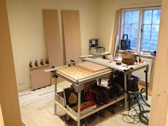 Building wardrobes and new frame around old window Solid Oak Doors, Fitted Wardrobes, Drawers, Window, Victorian, Desk, Flooring, Bedroom, Building