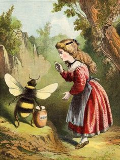 A Little Girl Asks A Bee For Some Honey...