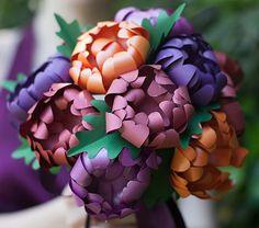 Paper Mums Wedding Bouquet   AllFreePaperCrafts.com
