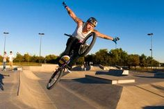 Person on a bike at The Edge Skate Park Allen Texas, Skate Park, Bmx, Timeline, Photo Galleries, My Love, My Boo