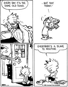 Inspirational Calvin and Hobbes...try something new, it is fun!