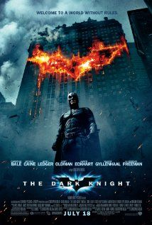 "The Dark Knight, 2008. Action | Crime | Drama. IMDb Rating: 8.9/10. Metascore: 82/100 (based on 39 Critics' Reviews from http://www.metacritic.com/movie/the-dark-knight ).....""Batman, Gordon and Harvey Dent are forced to deal with the chaos unleashed by an anarchist mastermind known only as the Joker, as he drives each of them to their limits."""
