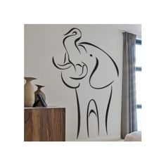 "Style and Apply Abstract Elephant Wall Decal Size: 31"" H x 20"" W, Color: Turquoise"
