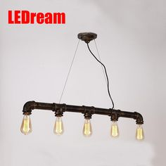 84.80$  Watch here - http://alif5i.worldwells.pw/go.php?t=1745024249 - Loft Vintage Edison Pendant Lights Personalized Bar Lighting Industrial Vintage Water Pipe Pendant Lamp E27 Black/Antique Lamps 84.80$