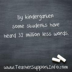 By kindergarten some