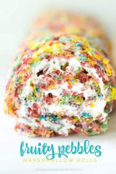 Fruity Pebbles Marshmallow Rolls