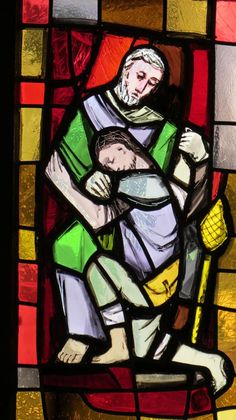 Photos de Vitraux - Le fils prodigue - église Saint-Théodule - Gruyères - Fribourg - CH