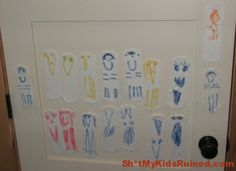 "My daughter decided to create an art piece on her bedroom door.  I am glad that her ""underwear cushion family"" seems to be a happy one.  Submitted by: Judith M.  Original Article"