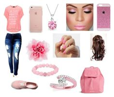 Pink by lizthecasterllon on Polyvore featuring polyvore, fashion, style, Replace, Vans, Vera Bradley, Allurez, Palm Beach Jewelry, Bling Jewelry and clothing