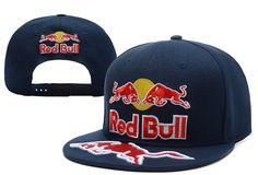 Red Bull Snapback Hats Navy