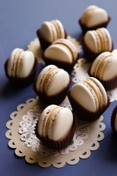 caramel macarons with butterscotch cream