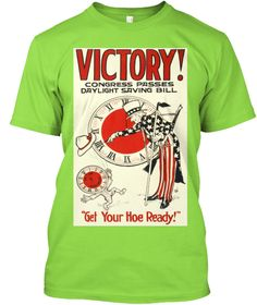 Victory!! Daylight Saving Time E Limited Lime T-Shirt Front