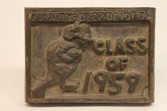 Class of 1959 bronze time capsule cover