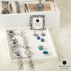 Your jewelry box called. It wants more Magnolia and Vine. The possibilities? Endless. Shop ~ Host ~ Join. www.SparkleSnaps.com