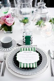 Love this fancy (but fun!) place setting.