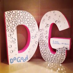 Do Good, Little One. Delta Gamma letters I made!
