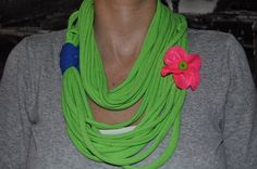 Neon Lime Green T-shirt Scarf