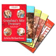 Nobody can tell a story like Grandma! Your tweens will be captivated by her hilarious tales of growing up on a 19th-century Michigan farm---escapades that teach about forgiveness, trust, and God's faithfulness. Includes In Grandma's Attic, More Stories from Grandma's Attic, Still More Stories from Grandma's Attic, and Treasures from Grandma's Attic.