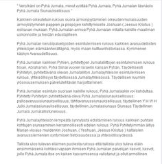 Kuvakaappaus: (1) Jukka Niemi Blessed, The Protector, Promised Land, Chuppah, The Covenant, Aga, Jesus Christ, Peace, Messages