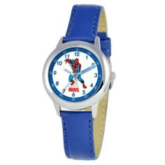 Marvel Comics Kids' W000116 Spider-Man Stainless Steel Time Teacher Watch Marvel Comics. $28.79. Accurate quartz movement. Time Teacher watch design with labeled Hour & Minute hands, recommended for ages 3-7 yrs old. Stainless steel case, water resistant to 3ATM. Meets or exceeds all US Government requirements and regulations for children's watches. 1 year limited manufacturer's warranty