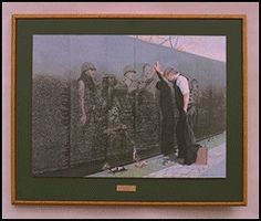 "This painting is called ""Reflections in the Wall"".  It brings tears to my eyes and a lump in my throat as a veteran visits the Vietnam Veterans War Memorial where he finds, deep within The Wall, the relections of his fallen comrades.  Beautifully moving painting. favorite-pictures"