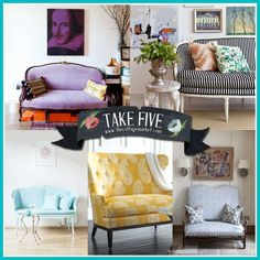 Take Five:  How about a Settee