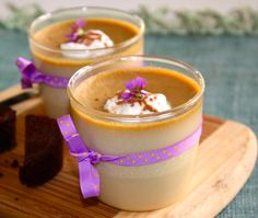 Espresso pot de creme.  I feel in love with this wonderful dessert when I worked at Yia Yia's.