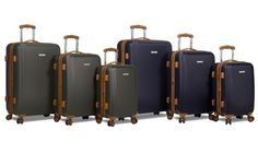 Groupon - Dejuno Legion Hardside Spinner Combination-Lock Luggage Set (3-Piece). Groupon deal price: $139.99