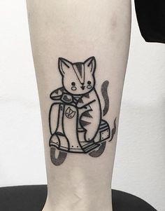 Hugo Tattooer cat Mini Tattoos, Love Tattoos, Beautiful Tattoos, Picture Tattoos, Tatoos, Design Tattoo, Tattoo Designs, Tattoo Ideas, Hugo Tattooer