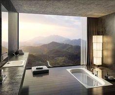 LUXURY BATHROOM IDEAS | Stunning Bathroom with amazing view | bocadolobo.com/ #luxurybathroom #luxurybathroomideas