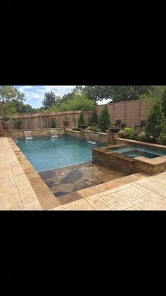 Backyard Layout With Pool Jacuzzi 28 Super Ideas Hot Tub Backyard, Small Backyard Pools, Backyard Fences, Outdoor Pool, Small Pools, Pool Decks, Backyard Layout, Backyard Pool Designs, Swimming Pool Designs