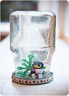 Dagens pyssel, snöglob –Craft of the Day, snow globe | Craft & Creativity – Pyssel & DIY