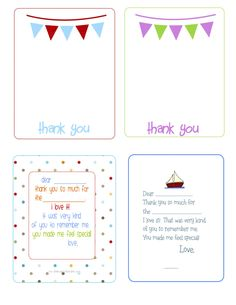 If You Are Looking For A Fun Way To Help Your Kids Write Thank You