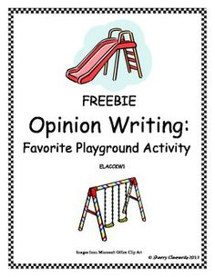 FREEBIE: Opinion Writing: My Favorite Playground Activity: Visit my TN shop to see many more opinion writing activities. Opinion Writing, Persuasive Writing, Essay Writing, Writing Prompts, Writing Topics, Kindergarten Freebies, Kindergarten Writing, Teaching Writing, Teaching Ideas