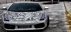 work by Jona Cerwinske who created it using Sharpie markers on the white Lamborghini Gallardo Lamborghini Gallardo, White Lamborghini, Lamborghini Diablo, Custom Car Paint Jobs, Custom Paint, Custom Cars, Powerboat Racing, Monster Car, Sharpie Doodles