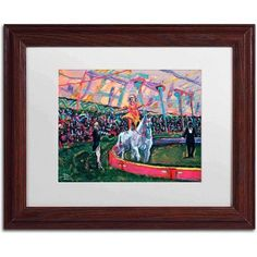 Trademark Fine Art Trick Rider Canvas Art by Lowell S.V. Devin, White Matte, Wood Frame, Size: 11 x 14, Multicolor